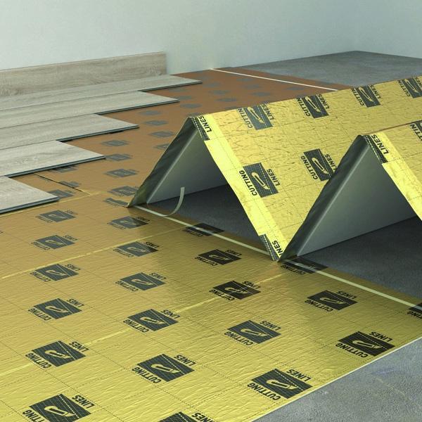 Podložka pod plávajúcu podlahu na podlahové kúrenie